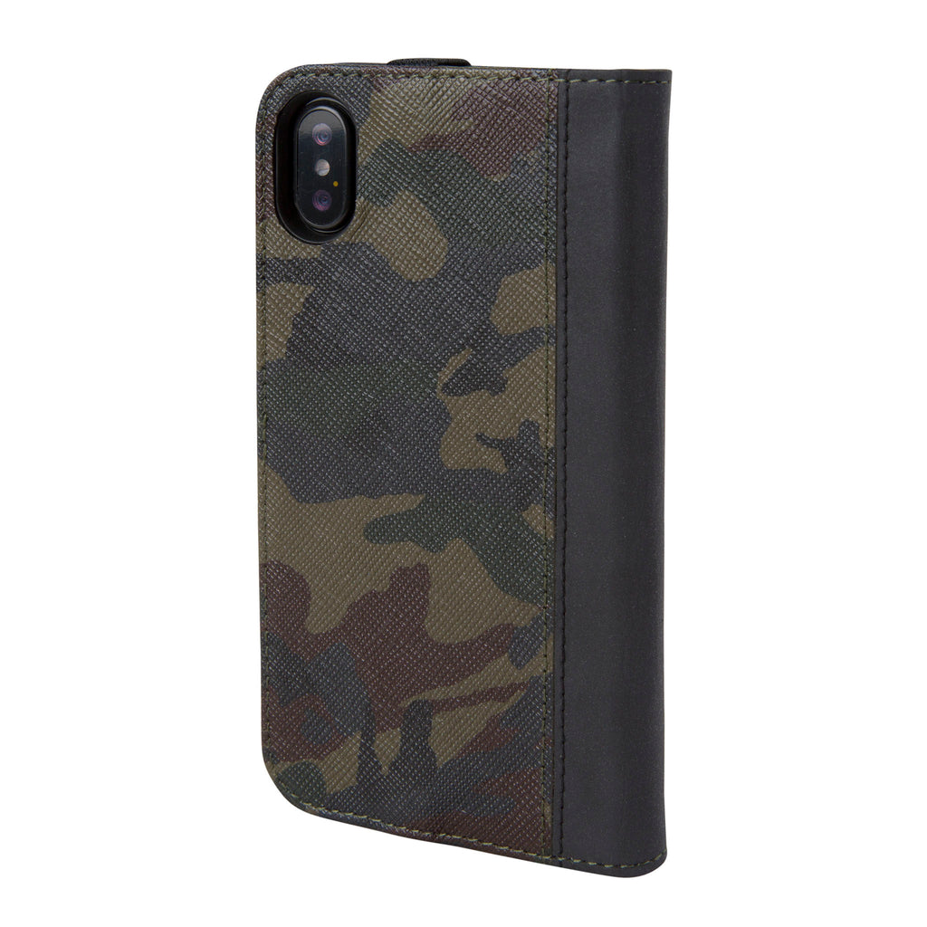 timeless design 44d8d 08619 Camo Leather Reflective Icon Wallet for iPhone X