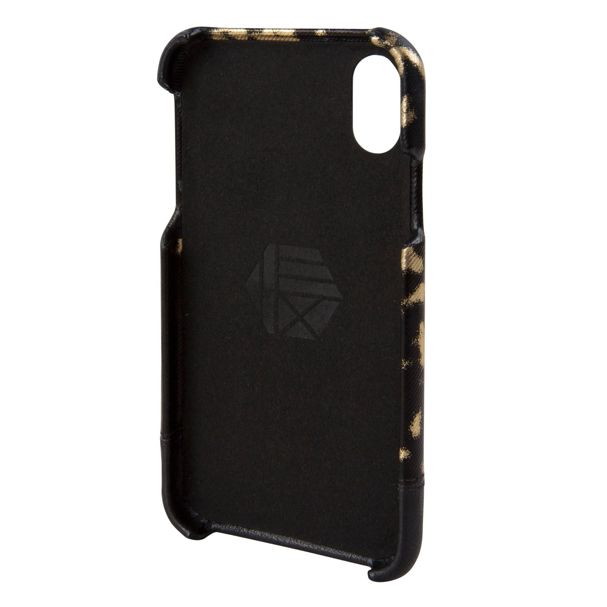 pretty nice 77683 831e2 Black/Gold Leather Focus Case for iPhone X/Xs