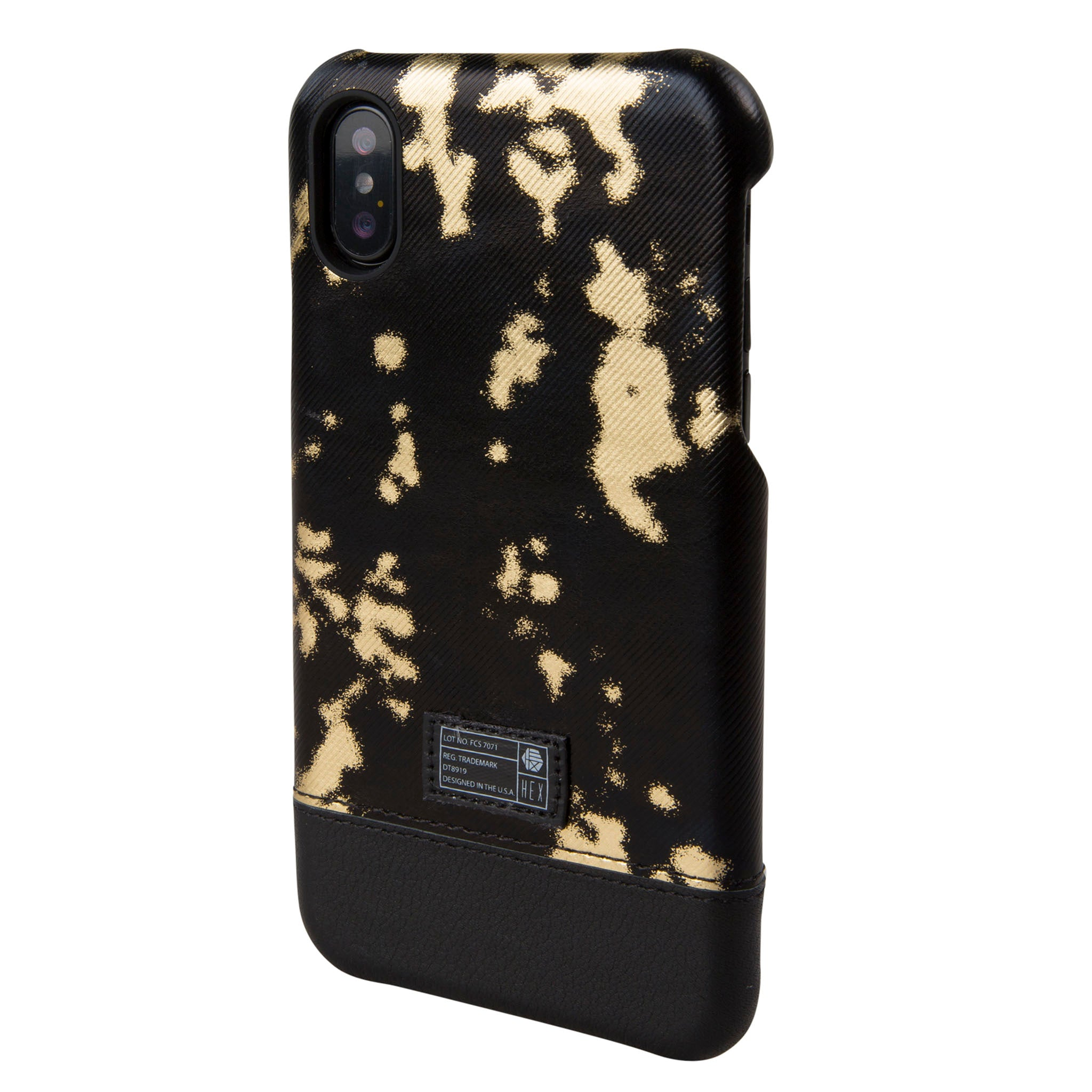 pretty nice 812ab 79c54 Black/Gold Leather Focus Case for iPhone X/Xs