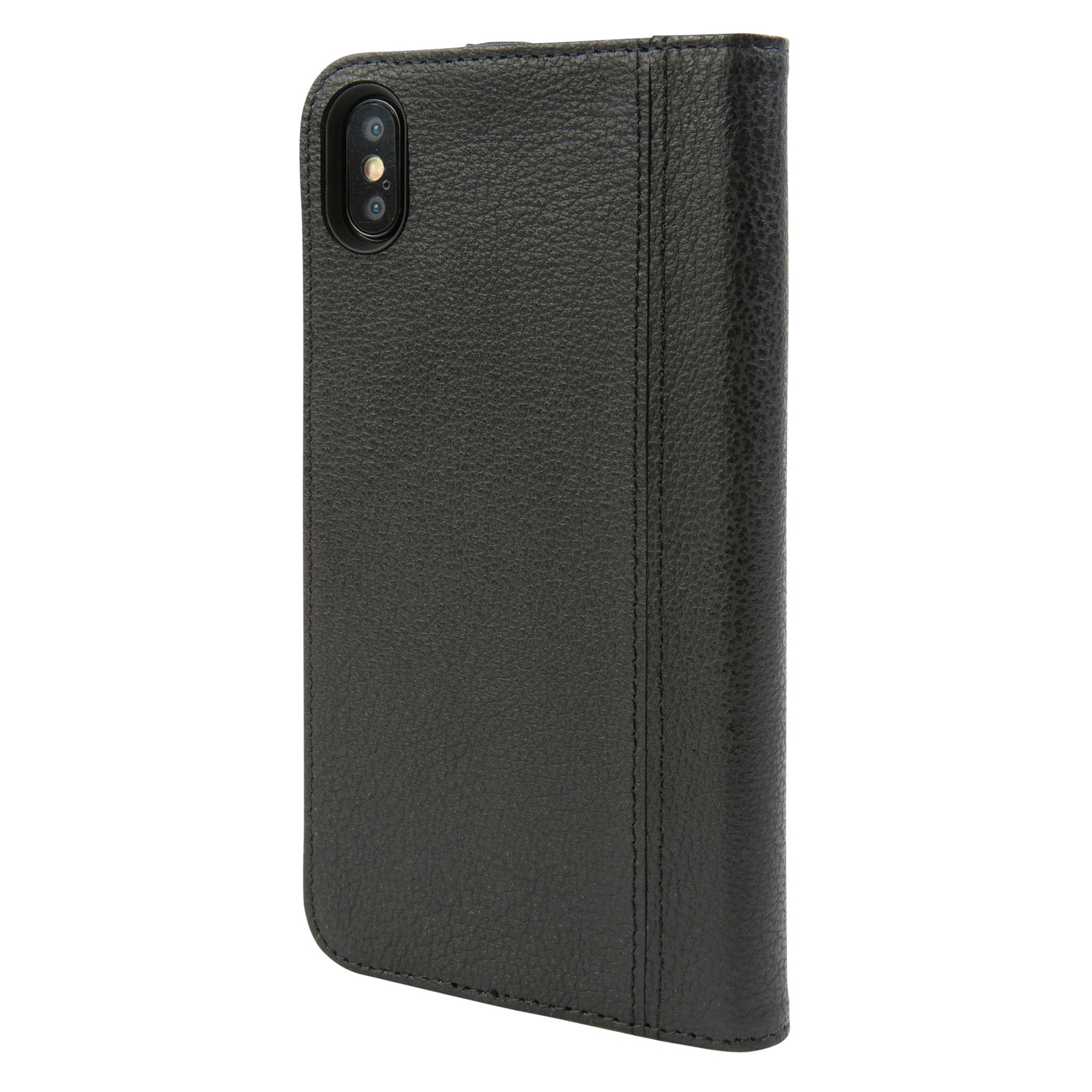 official photos fee39 7d87d Black Leather Icon Wallet for iPhone Xs Max