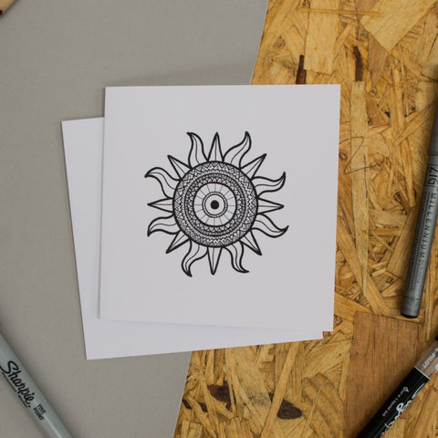 Sun Mandala Greetings Card