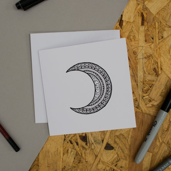Moon Mandala Greetings Card