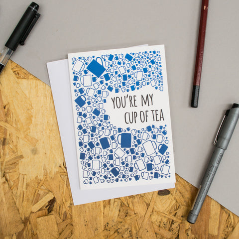 "Teacup Pattern ""You're My Cup Of Tea"" Card"