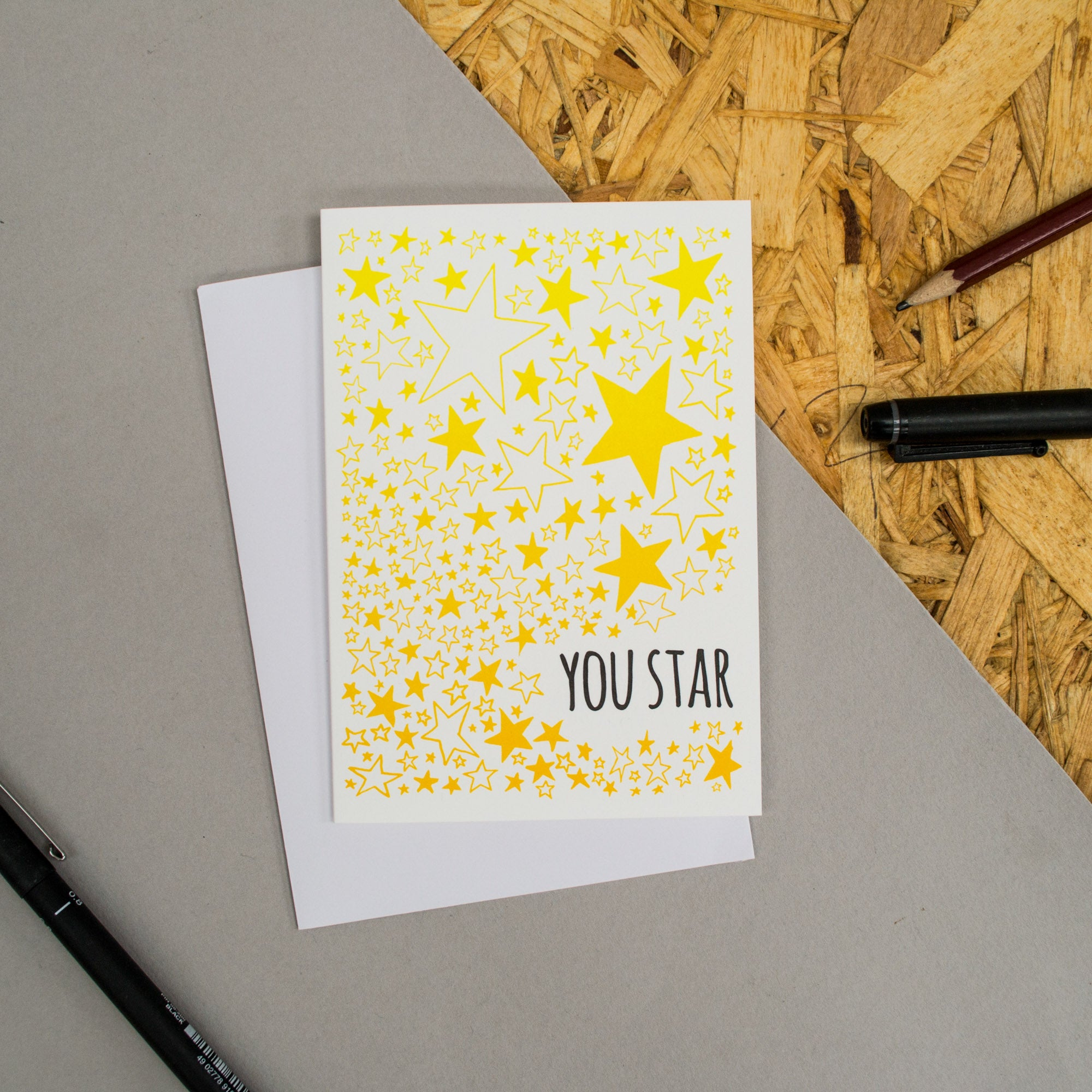 "Stars Pattern ""You Star"" Card"