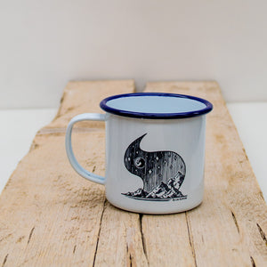 Moonlit Mountains Enamel Mug - Adventure Series