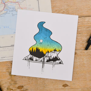 Waterfall Balloon Ride Card - Adventure Series