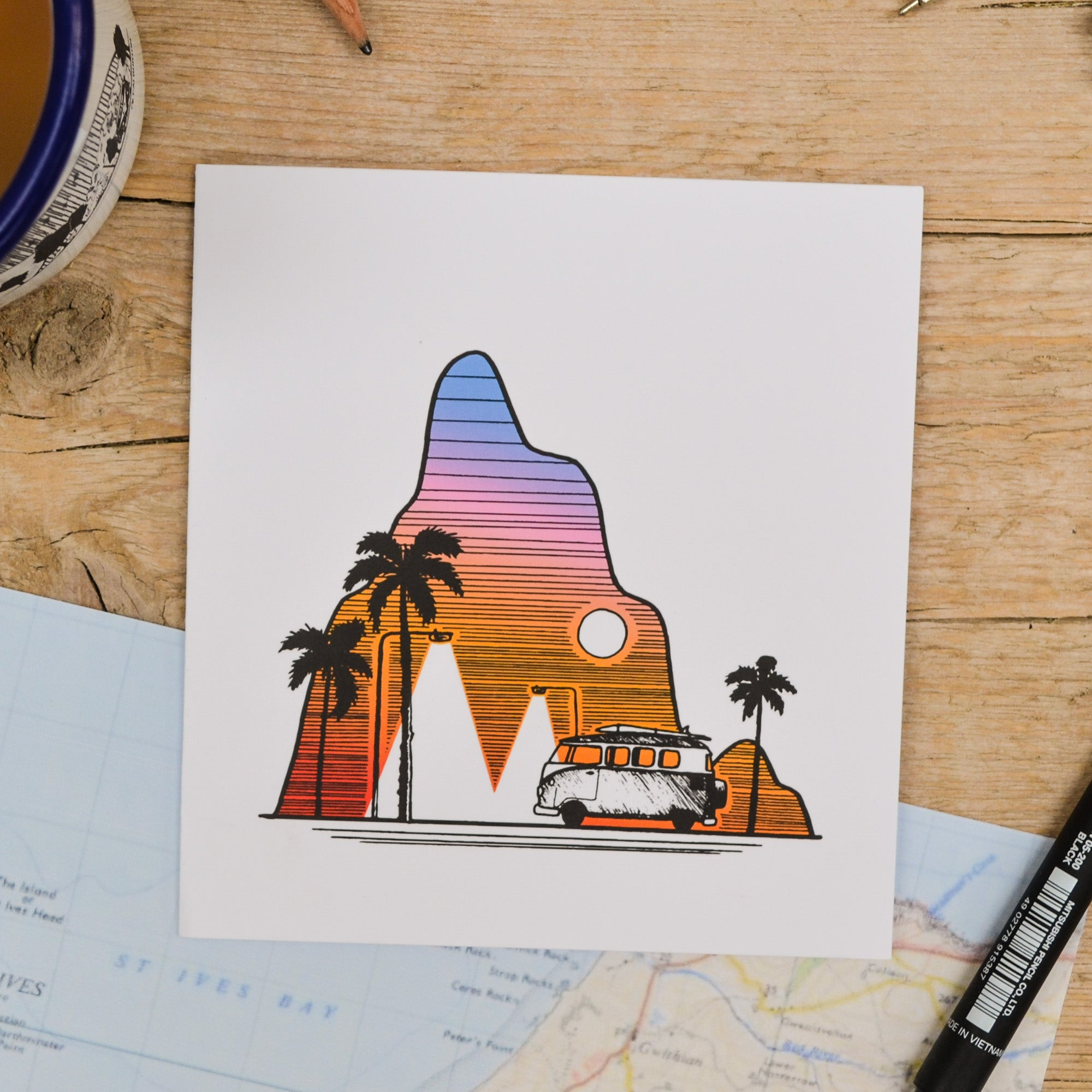 Palm Tree Camper Card - Adventure Series