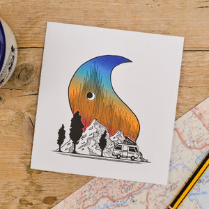 Mountaintop Camper Card - Adventure Series