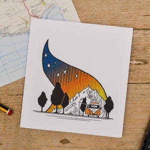 VW Campfire Card - Adventure Series
