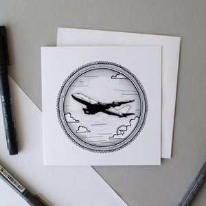 Aeroplane Greetings Card