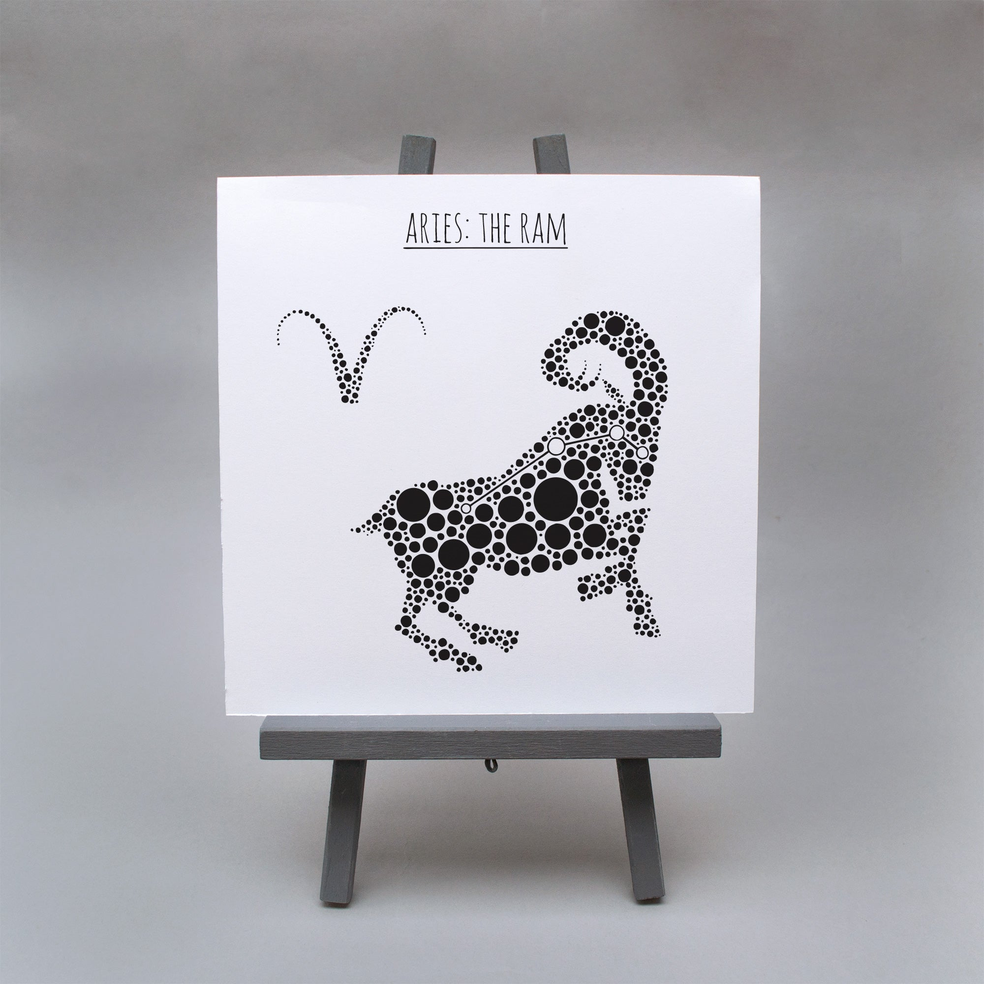 Aries: The Ram Square 8x8 Zodiac Print