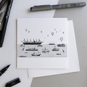 Bristol Boats Greetings Card