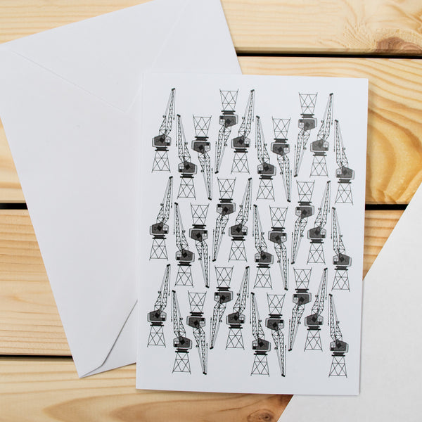 Harbourside Cranes - Bristol Pattern Greetings Card