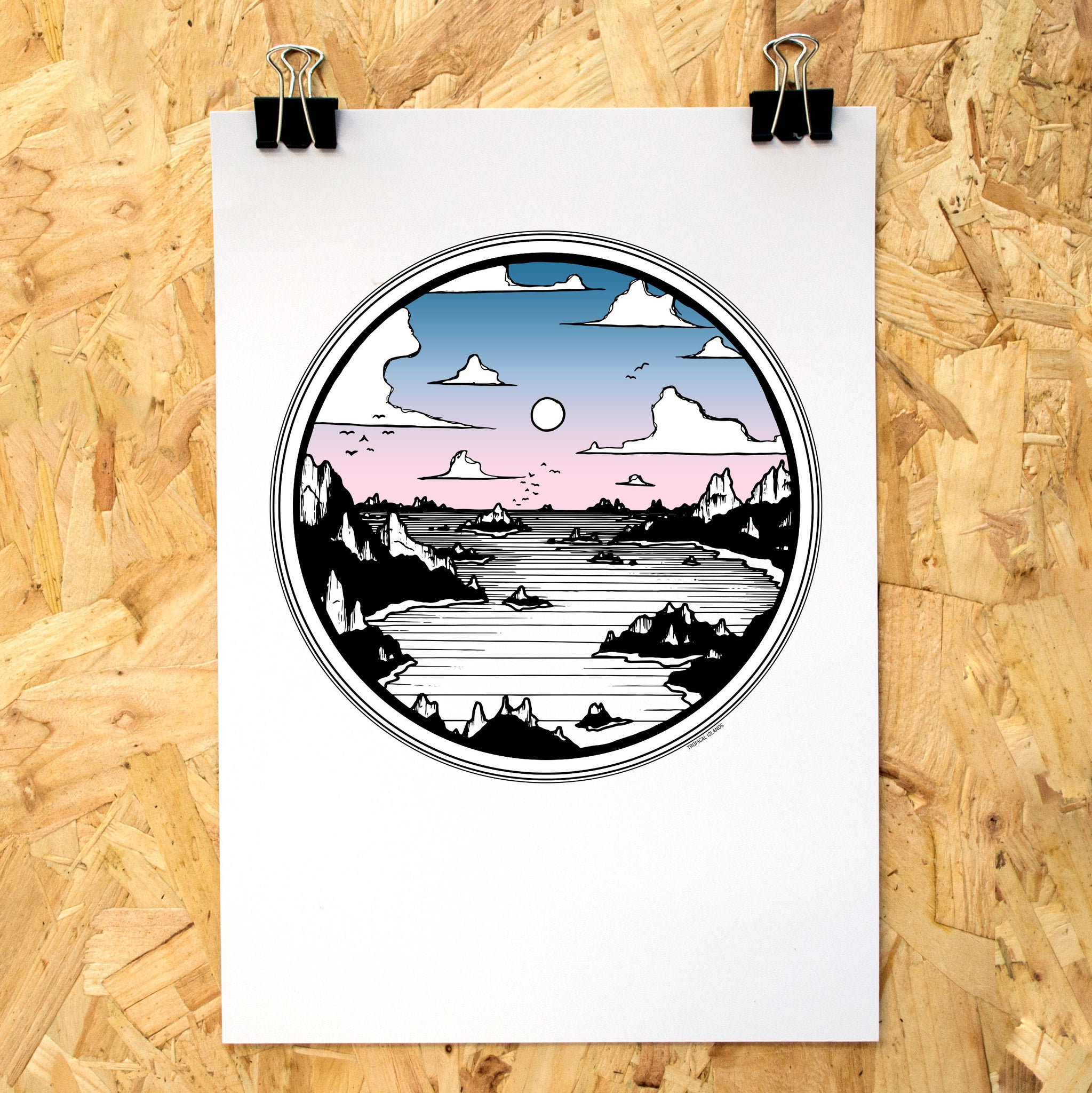 Tropical Islands Colour A4 Print - Adventure Series
