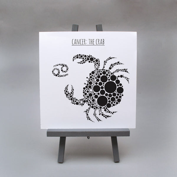 Cancer: The Crab Square 8x8 Zodiac Print