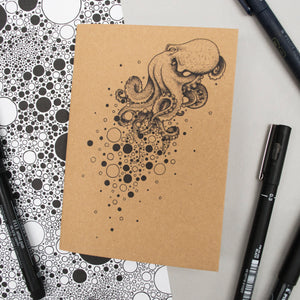 A6 Pocket Notebook - Octopus Design