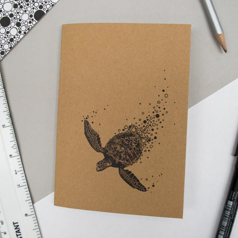 A6 Pocket Notebook - Turtle Design