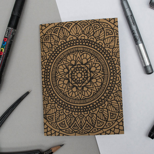A6 Pocket Notebook - Full Mandala Design