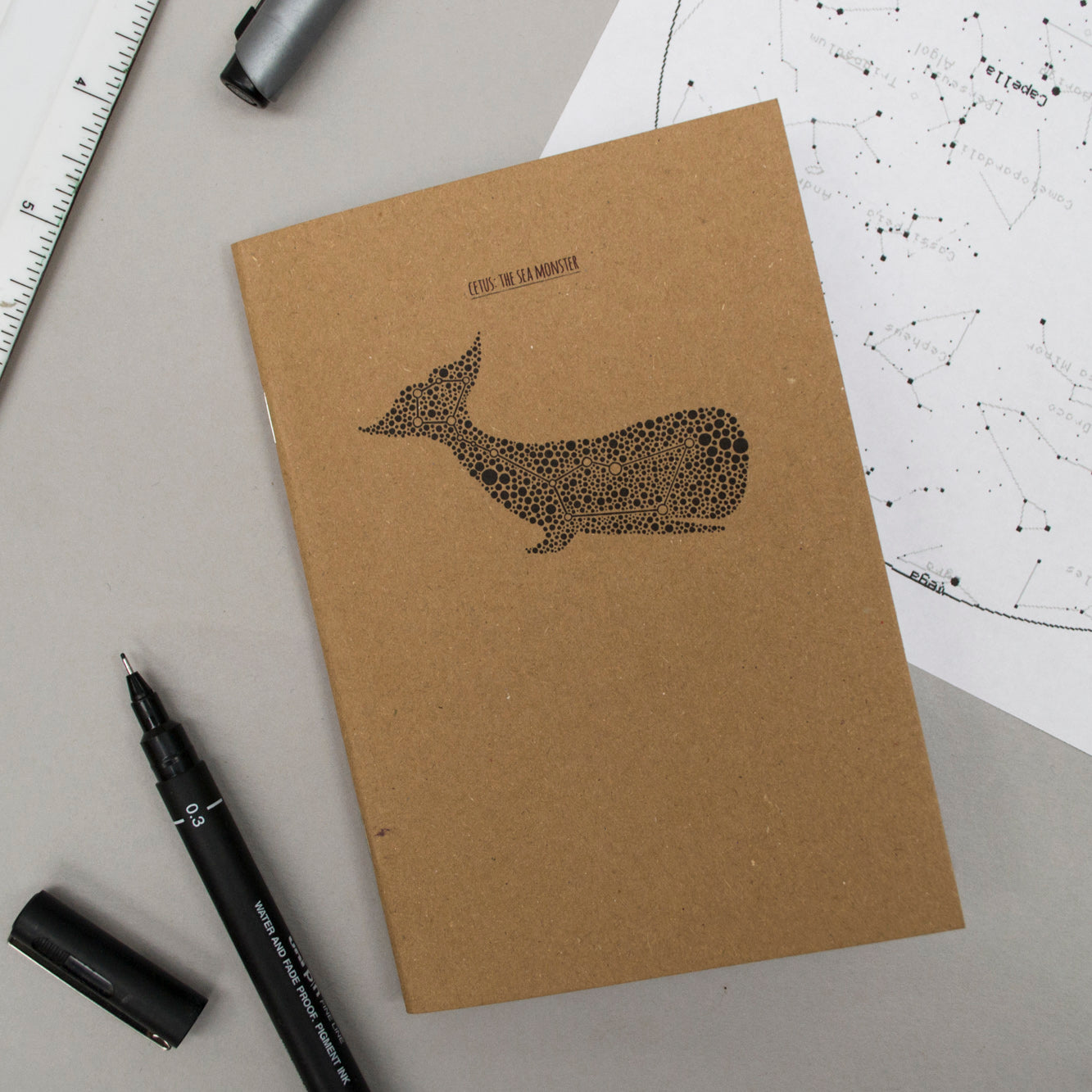 A6 Pocket Notebook - Cetus/The Sea Monster Design