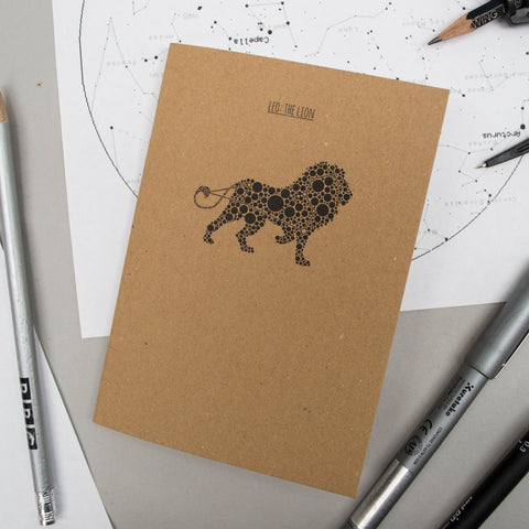 A6 Pocket Notebook - Leo/The Lion Design
