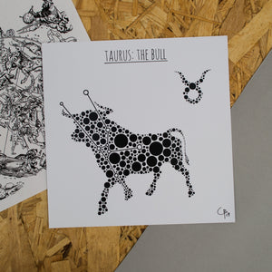 Taurus: The Bull Square 8x8 Zodiac Print
