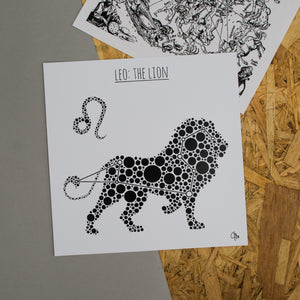Leo: The Lion Square 8x8 Zodiac Print