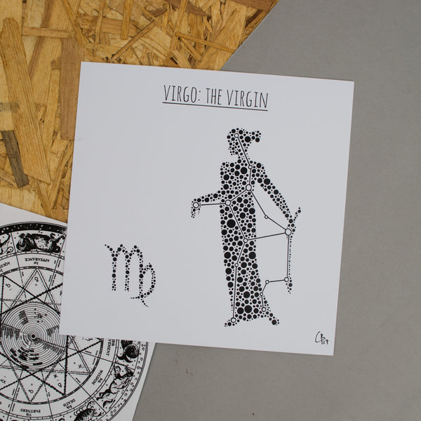 Virgo: The Virgin Square 8x8 Zodiac Print
