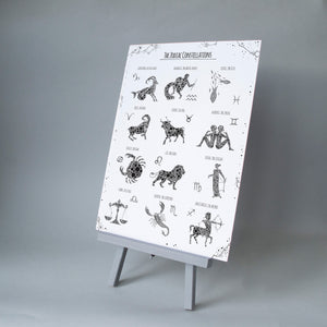 The Zodiac Constellations A3 Print