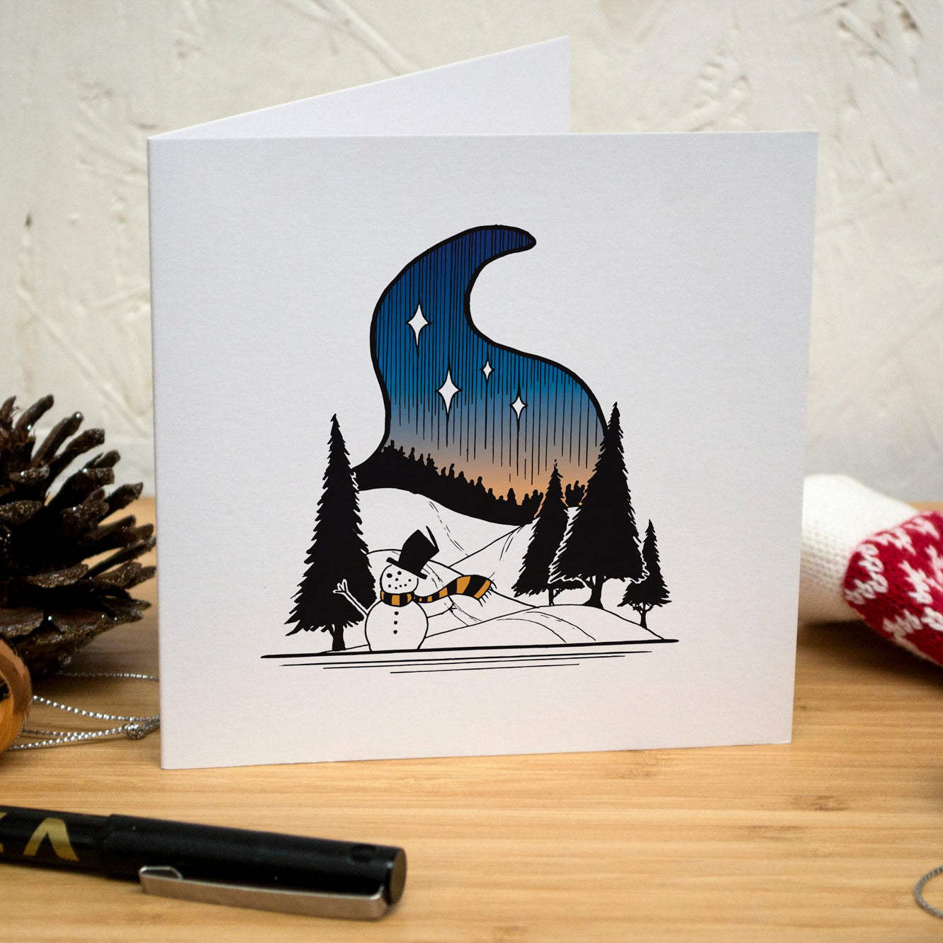 Forest Snowman Christmas Card