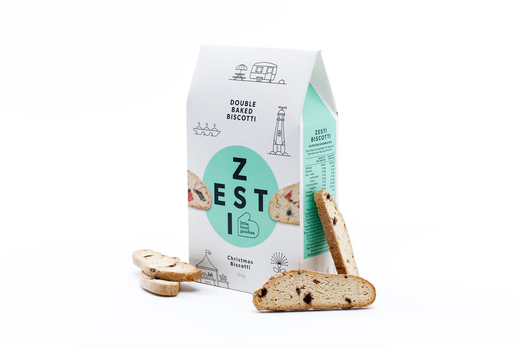 Zesti Christmas Biscotti with biscuits