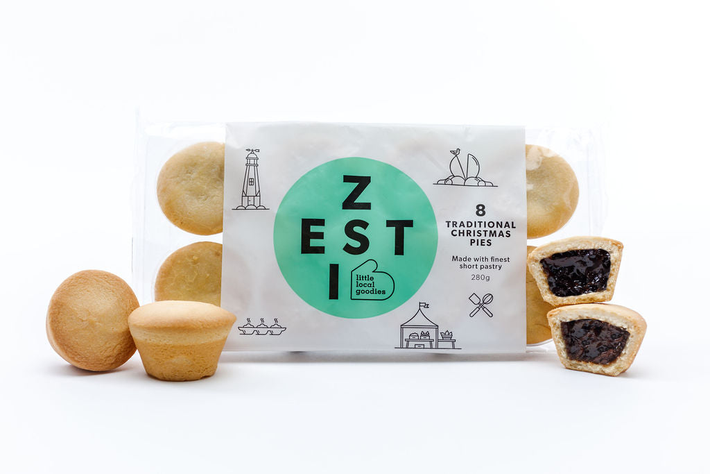 Zesti Christmas Pie 8 Pack with tarts