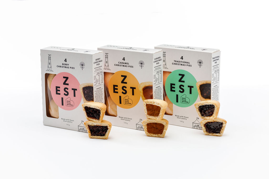 Zesti Christmas Pie 4 Pack Range