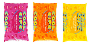 Load image into Gallery viewer, Cool Sips Sachets in Berry, Orange, and Passion Fruit with 40% fruit juice 250mL