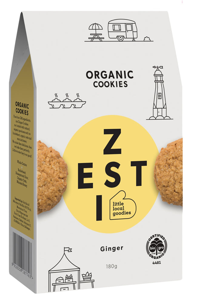 Zesti Organic Cookies Ginger Yellow Spot