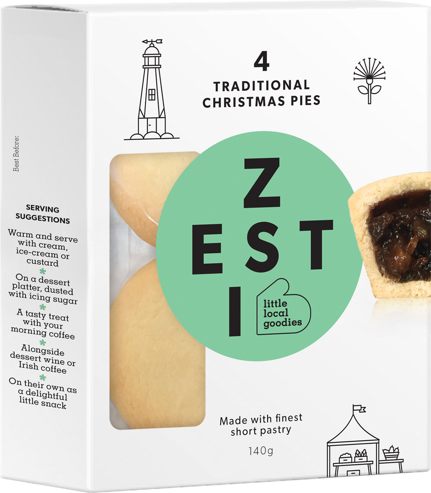 Zesti Traditional Fruit Mince Christmas Pie Tart Pack