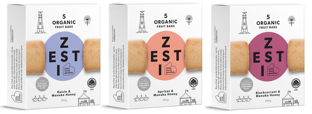 Zesti Organic Fruit Bars 3 packs