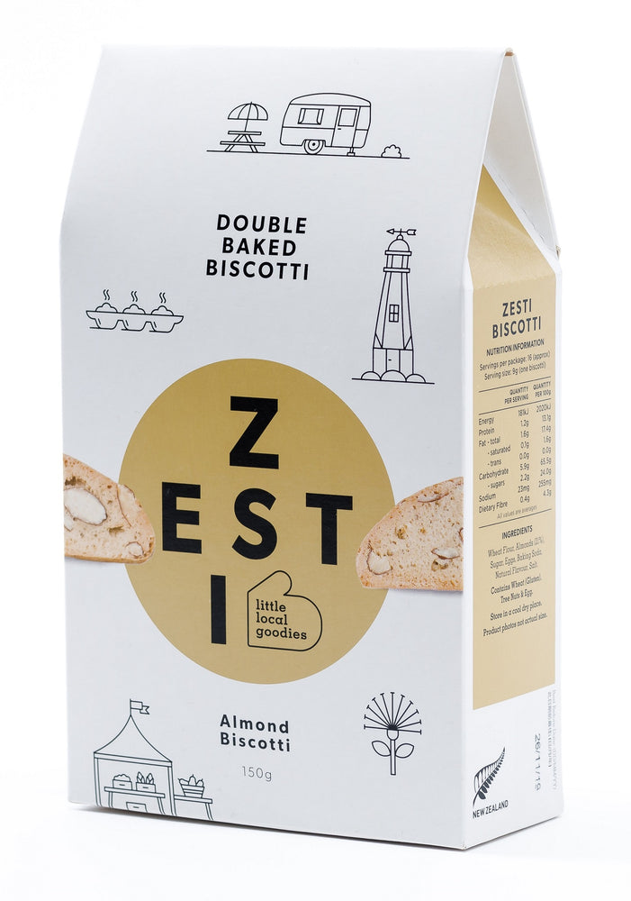 Load image into Gallery viewer, Zesti Double Baked Biscotti Beige spot Almond.