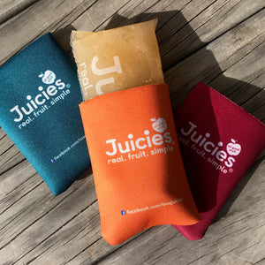 Juicies Holders (neoprene sleeve) with Juicie inside.