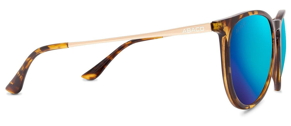 289cb2fc5d8 ... Abaco Piper Sunglasses Gloss Tortoise Gold Frame Polarized Ocean Mirror  Lenses ...