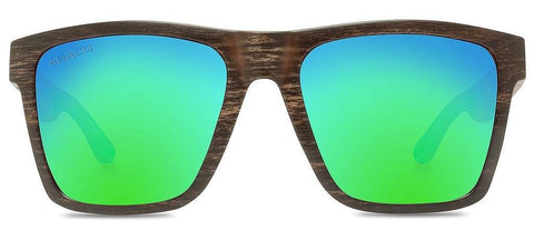Abaco Cruiser Black Wood Sunglass Polarized Ocean Mirror Lens Side