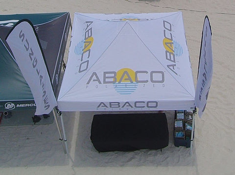Abaco Polarized 10' x  10' Canopy Tent, Steel Hex Frame, Full Print Roof