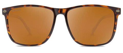 Abaco Jesse Tortoise Sunglasses Brown Polarized Lens Front