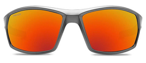 Abaco Octane Matte Black Sunglasses Polarized Fire Mirror Lens Front