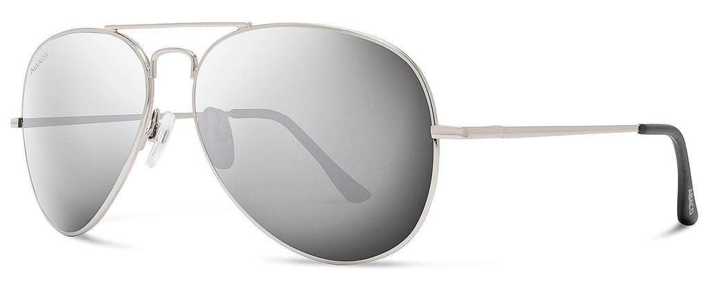 Abaco Dakota Silver Sunglass Polarized Chrome Lens Side