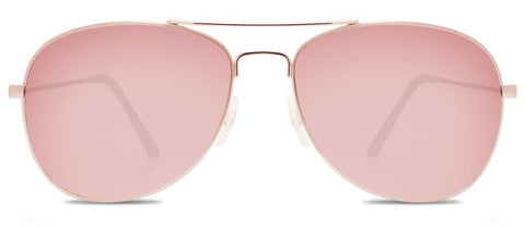Abaco Avery Rose Gold Sunglass Rose Gold Polarized Lens Front