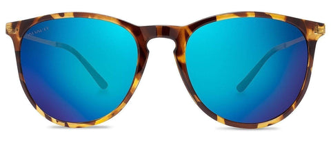 Abaco Piper Tortoise Sunglasses Polarized Ocean Mirror Lens Front