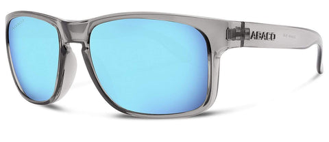 Abaco Dockside Crystal Grey Sunglass Polarized Caribbean Blue Mirror Lens Side