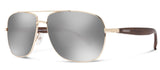 Abaco Austin Gold Sunglass Chrome Polarized Lens Side