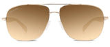 Abaco Austin Gold Sunglass Brown Gradient Polarized Lens Front