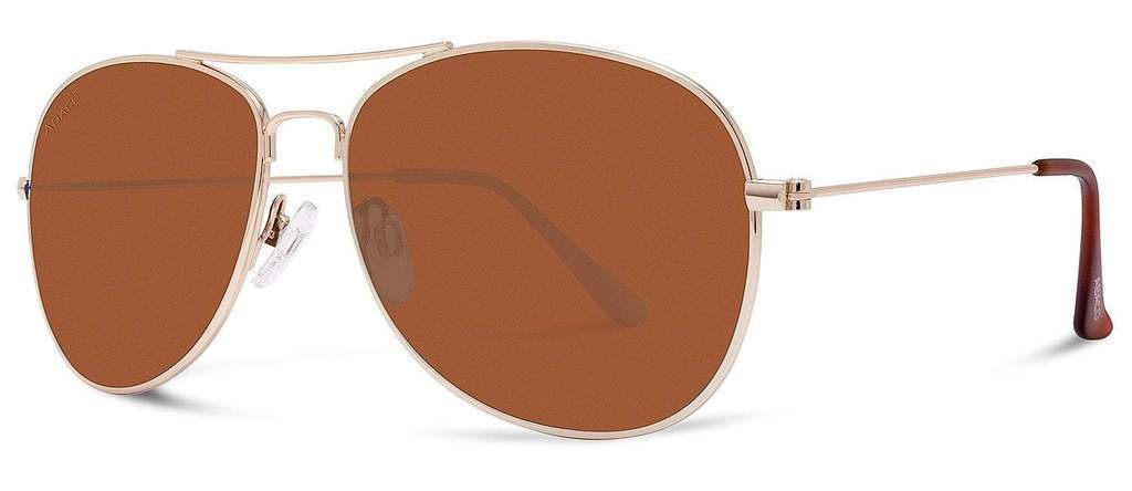 Abaco Avery Gold Sunglass Brown Gradient Polarized Lens Side